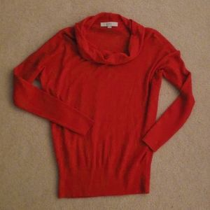 ❤ANN TAYLOR LOFT WOOL BLEND COWL NECK SWEATER, MED